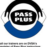 Pass Plus logo with strapline all our trainers are on DVSA register PP instructors